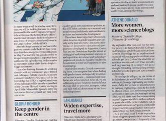 GenderInSITE ALC en la Revista Nature