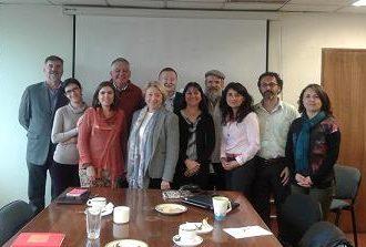 Reunión de trabajo en el Ministerio de Educación de Chile y en CONICYT