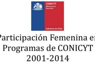 Chile: Reporte sobre participación femenina en programas del CONICYT