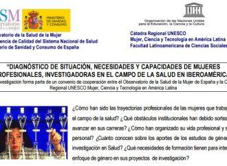 Diagnóstico de situación, necesidades y capacidades de mujeres profesionales, investigadoras en el campo de la salud en Iberoamérica