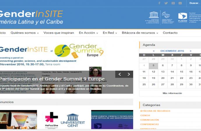 Punto focal América Latina y el Caribe de GenderInSITE