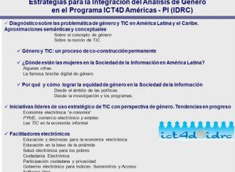 Estrategias para la Integración del Análisis de Género en el Programa ICT4D Américas