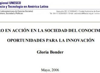 Género en acción en la Sociedad del Conocimiento: oportunidades para la innovación