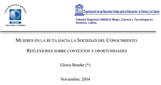 Mujeres en la ruta hacia la Sociedad del Conocimiento: reflexiones sobre contextos y oportunidades
