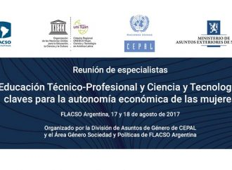 Reunión de especialistas: Igualdad de Género en la Educación Técnico-Profesional