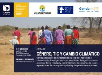 Jornada: Género, TIC y Cambio Climático